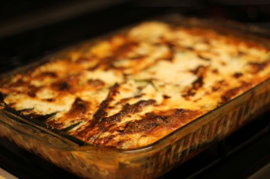 No Noodles About It – The Best Low Carb Lasagna! I made this tonight (and by I, I mean Bob). It was good! We used eggplant instead of zucchini and added sun dried tomatos.