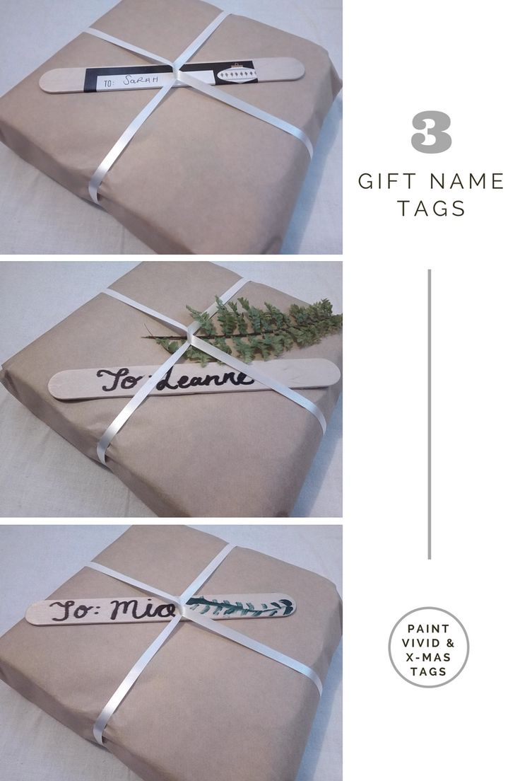Popsicle Stick gift name tag DIY