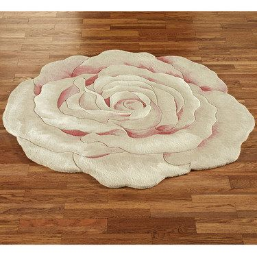 Grace Bloom Flower Shaped Round Rugs