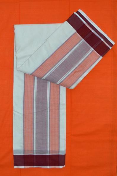 Traditional Iyengar (Vaishnava) Acharya Karai Dhoti, 10 x 6 (10 Muzham waist piece and 6 Muzham shoulder piece) Price $29.00 visit: http://www.saridhoti.com