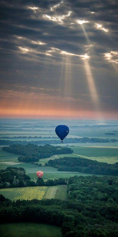 Vers le soleil (Towards the sun) ... Beautiful landscape in France