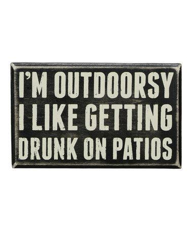 Look what I found on #zulily! 'Outdoorsy' Box Sign #zulilyfinds