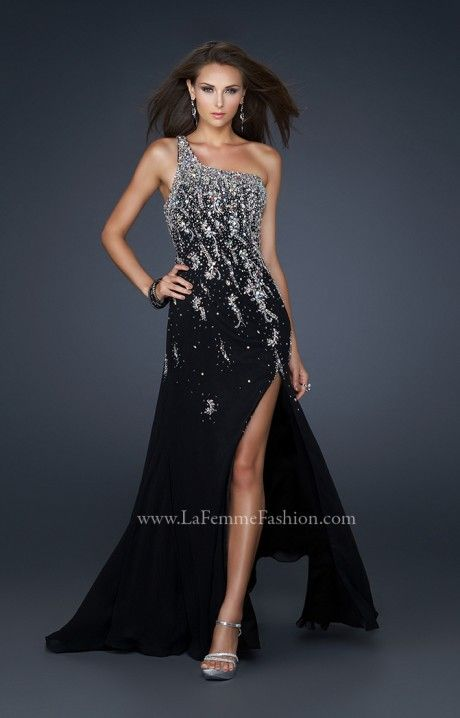 The beauty is in the details with La Femme 17706! This prom dress by La Femme is truly gorgeous from head to toe. The simple silhouette is jazzed up with a touch of crystals and sequins. You are sure to fall head over heels with the La Femme 17706 prom dress this year! Grab it now - this look is hot and selling out fast!