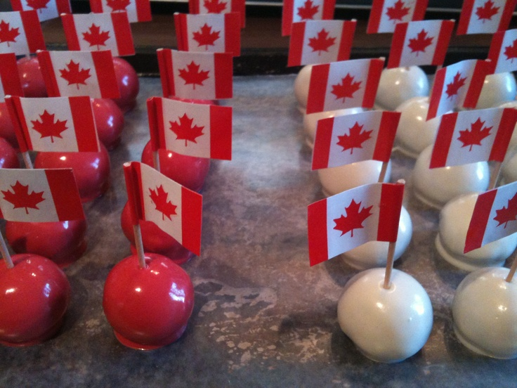 Canada Day Brownie Truffles - $1.00 each - photographed by Michelle Brazeau - All rights reserved