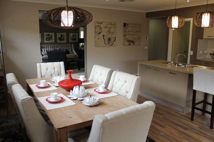 Hawthorn Meals by Zuccala Homes #Woodleaestate #land #houseandland #newlandestate #newhome #kitchen #dining