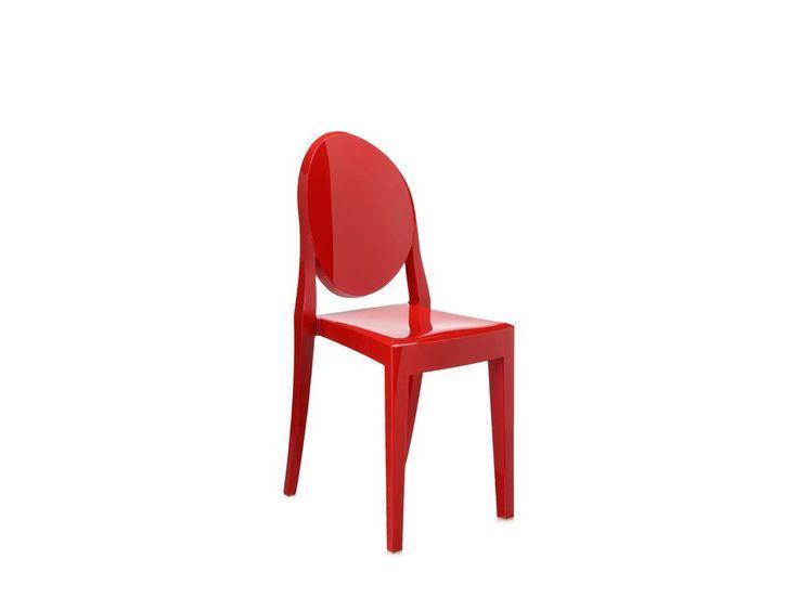 Krzesło Victoria Ghost czerwone — Krzesła Kartell — sfmeble.pl
