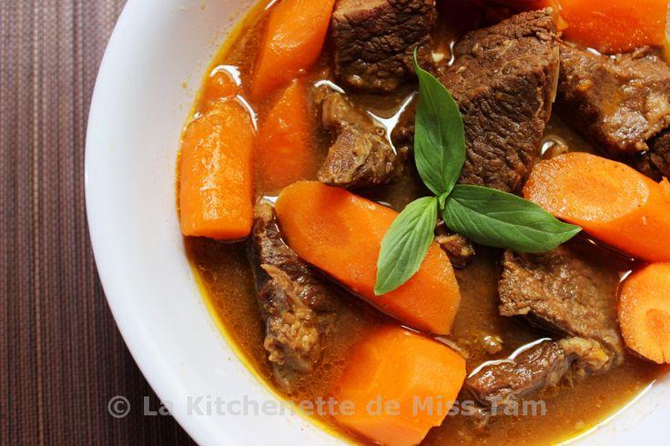 Ragoût de boeuf à la citronnelle (Bò kho sả) - La kitchenette de Miss Tâm