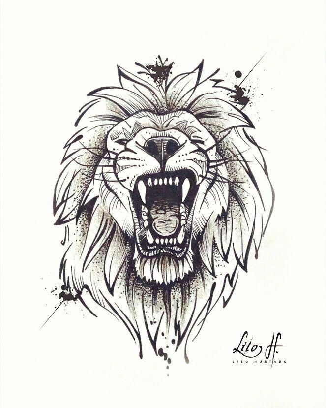#sketch #skketchtattoo #tattoos #drawing #liontattoo