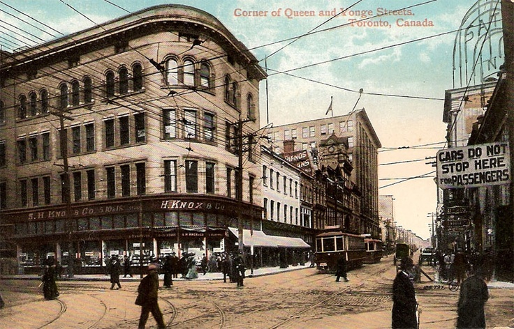 Corner of Queen & Yonge Streets, Toronto, Ontario ca. 1908