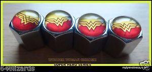 4-Wonder-Woman-Chrome-Tyre-Valve-Caps-Set-Tire-Air-Car-Dust-Car-Bike-Truck