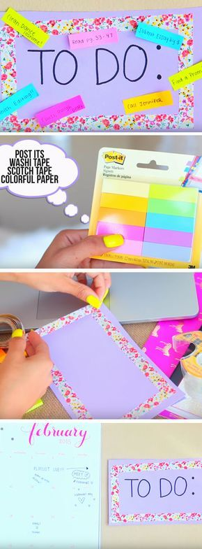Make a To Do List | Easy Spring Cleaning Tips and Tricks | DIY Teen Girl Bedroom Organization Ideas