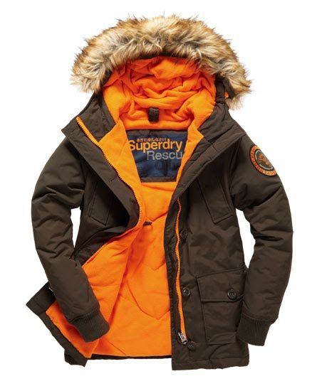 Superdry Everest Slim Polar jas Groen