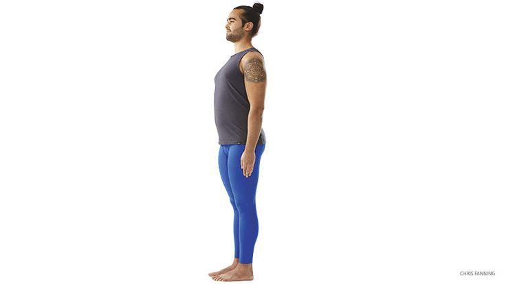 Yoga To Keep You Young --- pose 1 - Mountain Pose to Wide-Legged Raised-Arm Mountain Pose