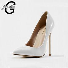 Genshuo femmes chaussures dames blanc extreme talons pour les femmes pompes robe de mariée stiletto soirée formelle de bal chaussures club(China (Mainland))