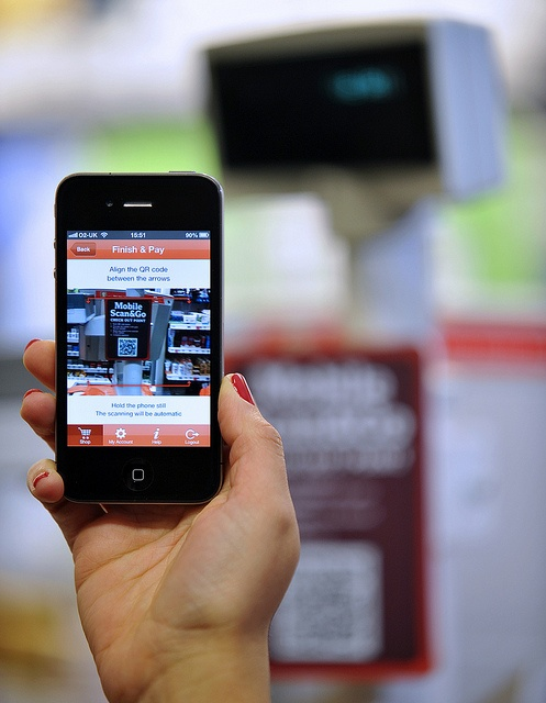 Mobile Scan & Go - When you've got all your items, check out by scanning the QR code at the till... by J Sainsbury, via Flickr