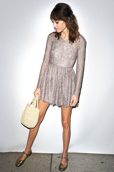 Alexa Chung's little lace dress