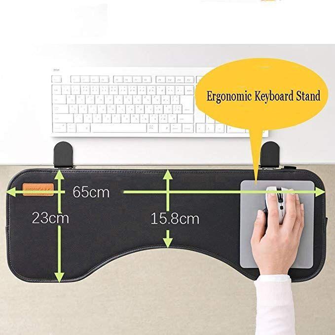 Ergonomic Desk Extender Clamp On Keyboard Tray Under Desk Adjustable Mouse And Keyboard Tilted Tray Table Mount Armrest Adjustable Desk Ergonomic Desk Keyboard