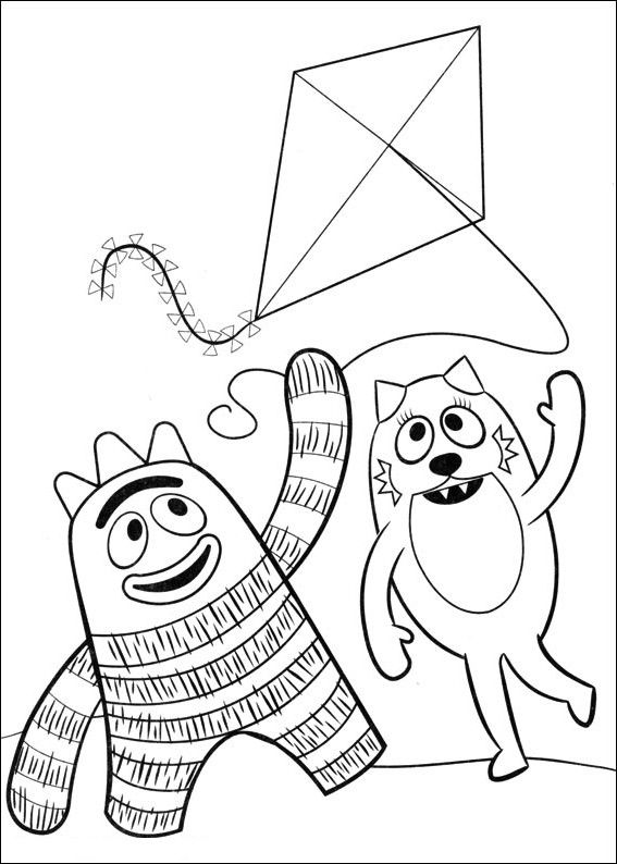 Yo Gabba Gabba Coloring Pages Coloring Pages Printable Christmas Coloring Pages Disney Princess Coloring Pages