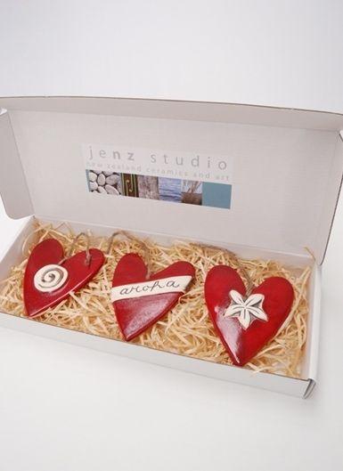 Texan Art School - Aroha String Hearts, RRP $63.00. Beautiful Kiwiana inspired Valentines gift!