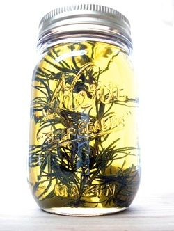 CANNABIS INFUSED OLIVE OIL; put this jar in a crock pot for 2 days and watch the magic begin. Rub it on yourself for pain!