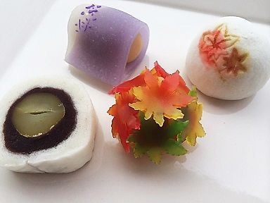 二條若狭屋 fall wagashi #japan #maple #marron