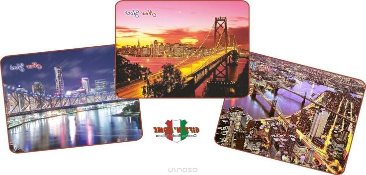 Подставка под горячее GiftnHome Удивительные мосты Нью-Йорка, пробковая, 21,5 х 29 см, 3 шт