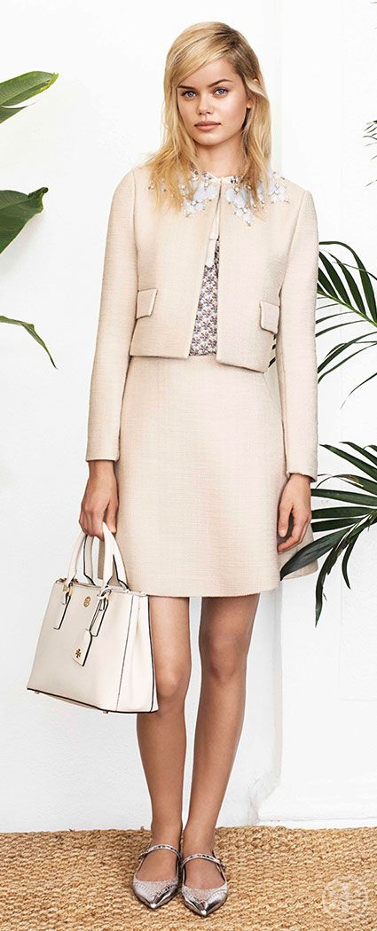 Embrace Sixties chic with a little skirt suit | Tory Burch Spring 2014