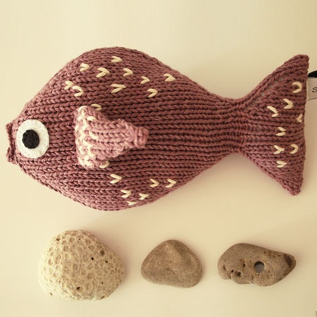 Hand knitted fish