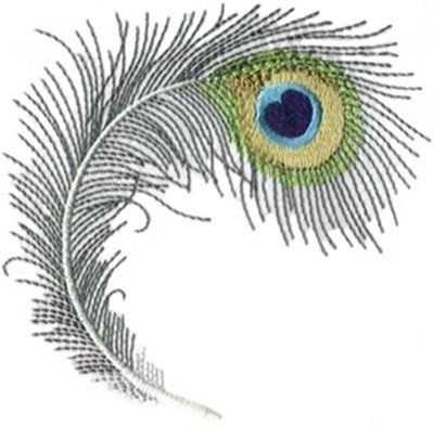 Image detail for -Peacock Feathers - Machine Embroidery Designs