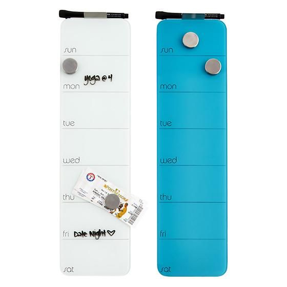 Weekly Glass Magnetic Dry Erase Board