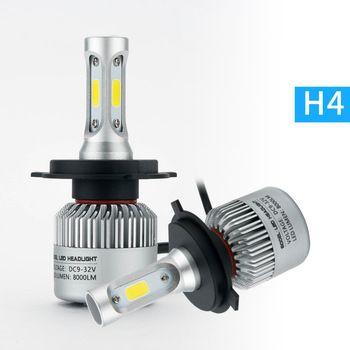 2Pcs H4 LED H7 H11 H1 H3 9005 9006 Auto Car Headlight 72W 8000LM High Low Beam Light Automobiles Lamp white 6500K Bulb   Price: 18.43 USD