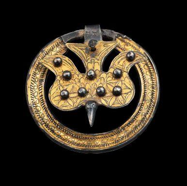 European belt ornament, ca 6th century A.D.