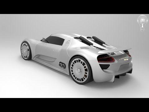[Speed modeling]Porsche 918 Spyder (Cinema 4D) - YouTube