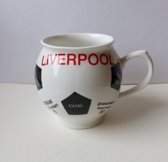 Liverpool Soccer Ball Mug by LFCcollectables on Etsy