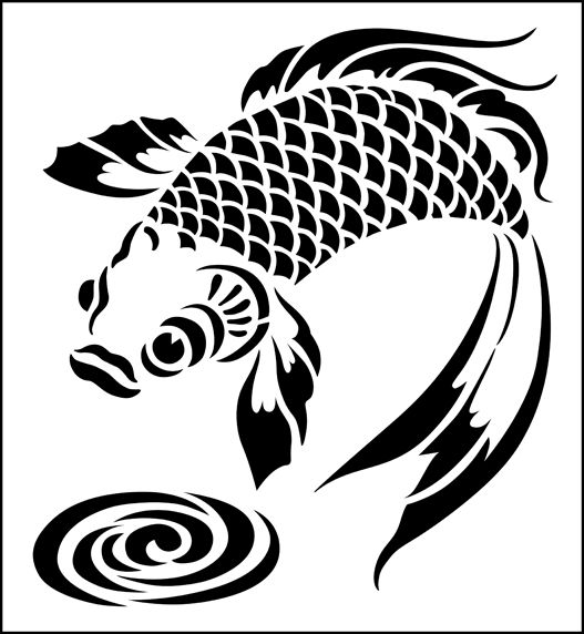 31 best images about stencils on pinterest japanese koi for Koi fish stencil