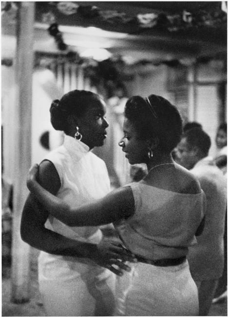 Girls dancing together in Martinique, 1958.  Photo by Denise Colomb.