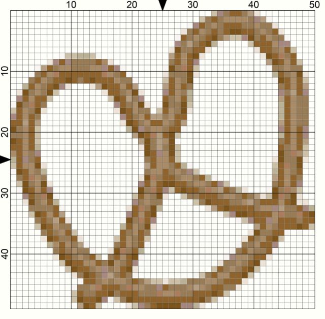 Yummy Pretzel Snack Needlepoint Chart for National Pretzel Day: Day 116 of the 365 Needlepoint New Year's Resolutions Challenge
