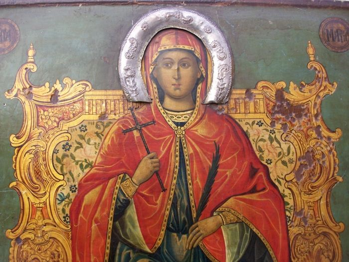 Η προσευχή της Αγίας Μαρίνας πριν τον αποκεφαλισμό της.