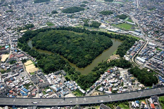 大阪・ 誉田御廟山古墳 Japanese ancient tomb