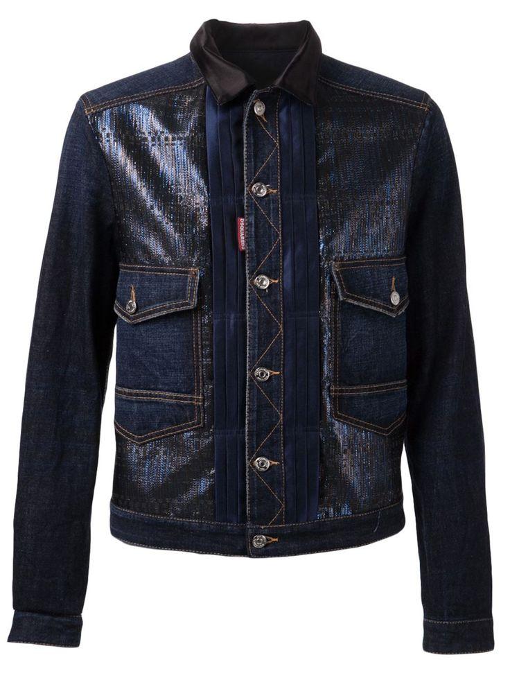 Dsquared2 Contrasting Denim Jacket - Mantovani - Farfetch.com