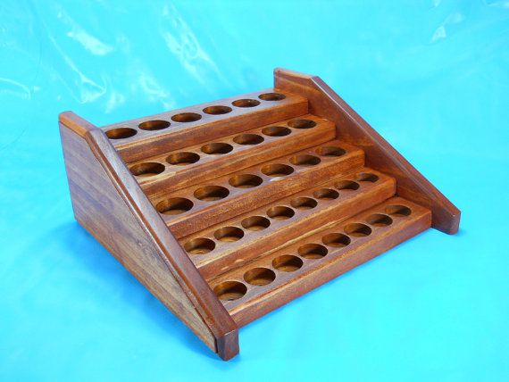 A discounted Medium Esssential Oil Counter Display Rack by BackwoodsWoodworks, $55.00
