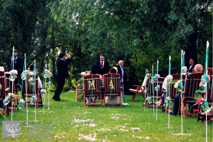 Aranżacja miejsca ślubu plenerowego