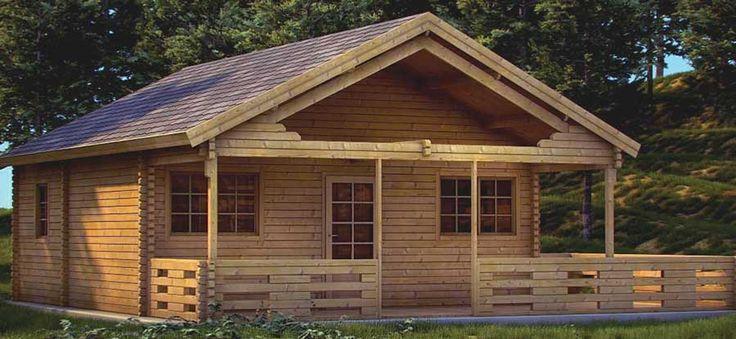Splendida casa in legno massello di abete nordico dotata di un soggiorno/cucina e tre stanze utilizzabili sia come bagno che come camere da letto. Tutte le finestre e la porta doppia sono rivestite con vetri termici e garantiscono un buon isolamento termico ed un ottima illuminazione all'interno della casetta.
