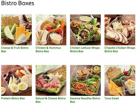 Starbucks Bistro Boxes Varieties