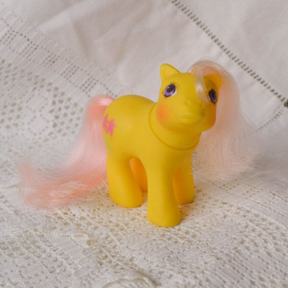 Vintage My Little Pony 'Baby Snippy' PeekaBoo Yellow Pink - G1 - 1987 - Rare - MLP - Very Cute - UK by TeaJay, Vintage  Toy  Animal  MLP  my little pony  baby  teajay  G1  UK  1987  yellow  peek-a-boo  snippy  pink hair cute  small
