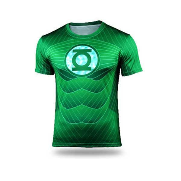Green Lantern Long Sleeve 3D Digital Printing Sport T-Shirt
