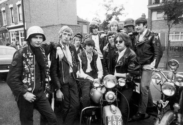 """Mickey Roache and Canning Town """"Hells Angels """" London July 1969."""