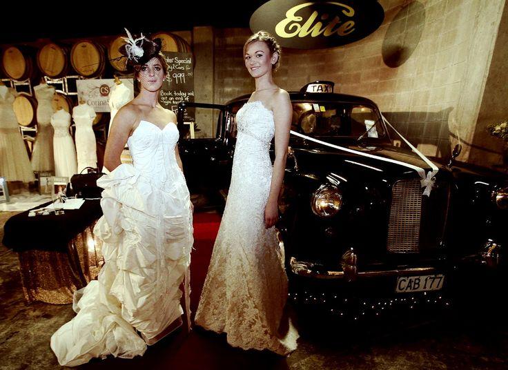 Vanilla bridal (right) Miranda Mayson (left) Elite Limousines Ltd - Black London Taxi Cab