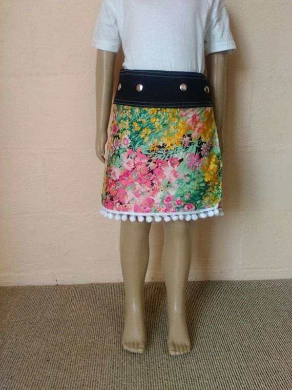 Girls Reversible Wrap Skirt by Climbinglily on Etsy
