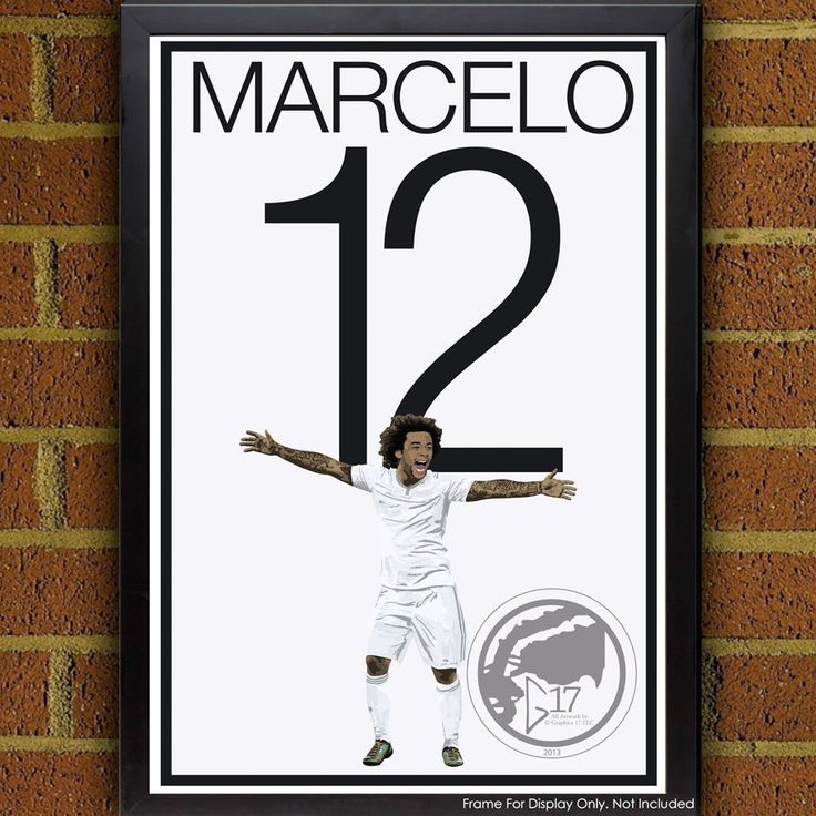 Marcelo 12 Poster - Real Madrid - Brazilian Soccer Poster- Madrid poster, art, wall decor, home decor, Marcelo Vieira Art by Graphics17 on Etsy